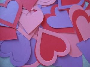серце, паперові серця, сердечка паперові, сердце с бумаги, бумажные сердца