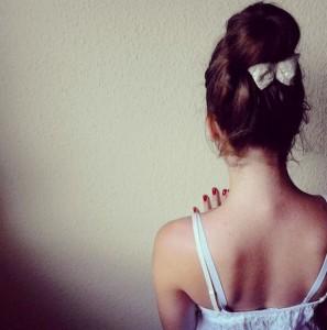 стіна, дівчина, wall, girl, love, back