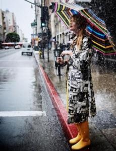 umbrella, happy rain, yellow boots, nice woman, красивый зонт, веселый дождь