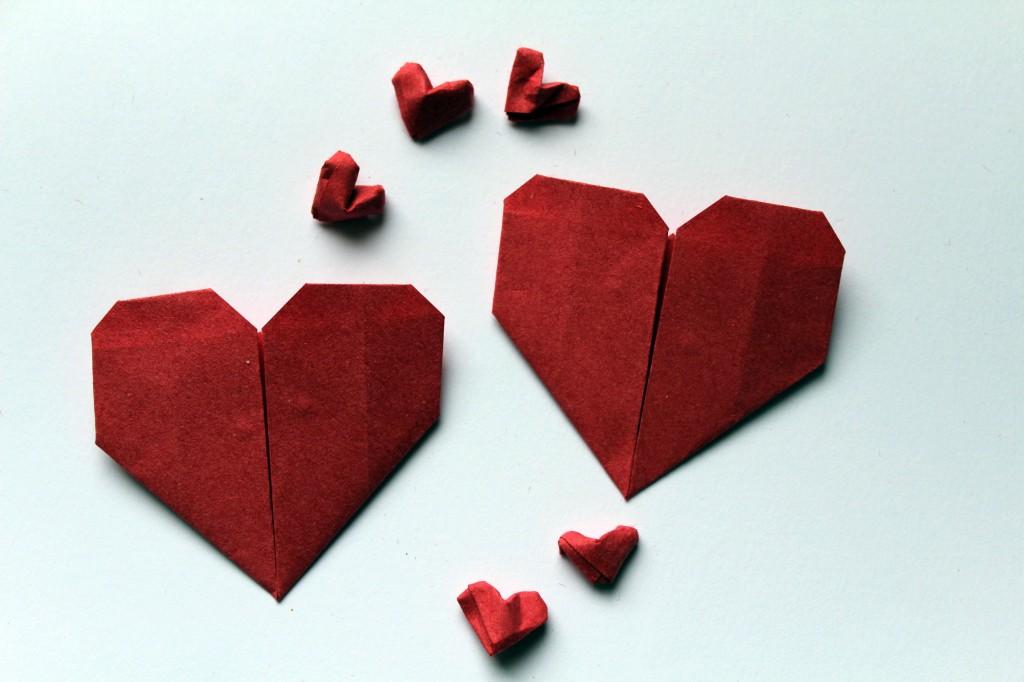 Мої сердечка орігамі ;)
