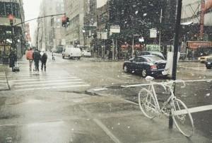 фото зима в місті, зима в городе