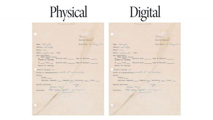 Рукописну біографію Стіва Джобса продали і на папері. і як НФТ. От і все, що треба знати про НФТ і мистецтво
